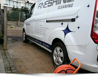window cleaning fine shine van and hose